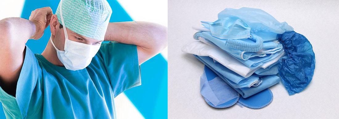 Одноразовая медицинская одежда из нетканых материалов