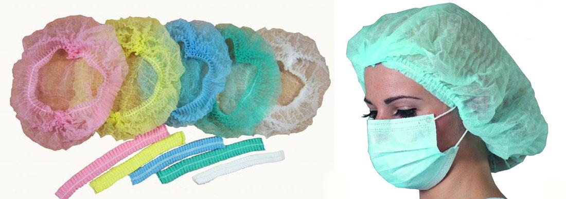 Медицинские шапочки одноразовые типа «шарлотта»