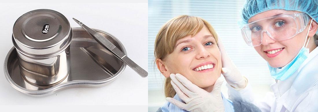Лотки медицинские и другие расходные материалы для стоматологии